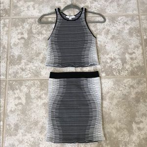 BCBGeneration Skirts - BCBGeneration tight spandex black and white skirt